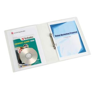 MARBIG RING BINDER 2D 25MM CLEAR  - EACH
