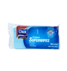 CHUX SUPERWIPES REGULAR 60X30CM BLUE 20 SHEETS - PACK