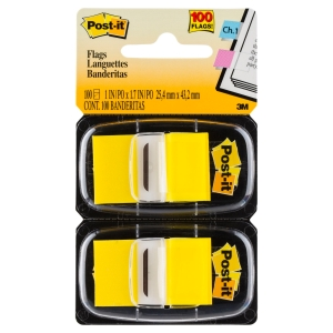 POST-IT STANDARD FLAGS 25 X 44MM YELLOW - TWIN - PACK