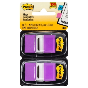 POST-IT STANDARD FLAGS 25 X 44MM PURPLE - TWIN - PACK