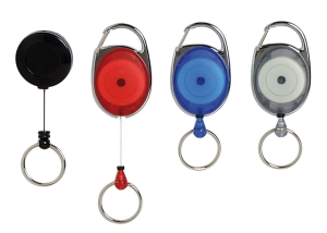 REXEL RETRACTABLE KEY HOLDER MINI (L66CM – 22MM RING) BLACK - EACH