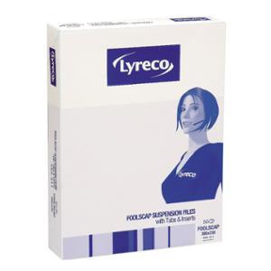 LYRECO SUSPENSION FILES  FOOLSCAP GREEN - BOX OF 50