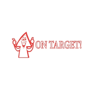 SHINY  ON TARGET  SELF INKING TEACHERS STAMP RED - EACH