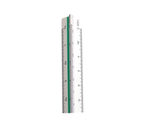 LINEX 313 REDUCTION SCALE RULER SCALES 1:2.5, 5, 10, 20, 50, 100 - EACH