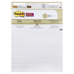 3M POST-IT SUPER STICKY WHITE RECYCLED EASEL PAD 63 X775MM - PACK OF 2