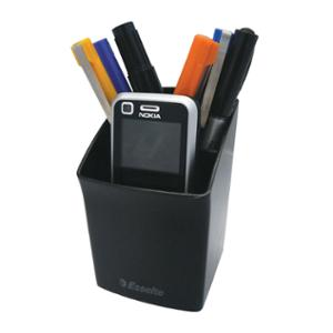 ESSELTE NOUVEAU PENCIL CUP 70 X 68 X 105MM BLACK - EACH
