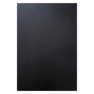 BINDING COVERS LEATHERGRAIN BLACK - PACK OF 100