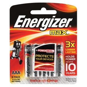 ENERGIZER MAX AAA BATTERY - PACK OF 8