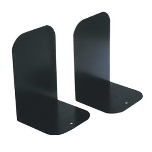 ESSELTE METAL BOOK ENDS 145 X 140 X 210MM BLACK - PACK OF 2