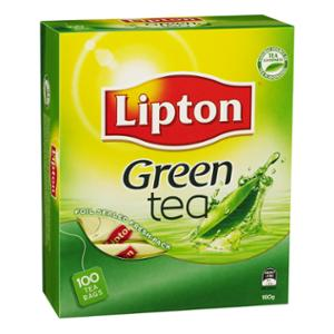 LIPTON GREEN TEA BAGS FOIL SEALED ENVELOPES- BOX OF 100