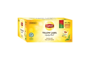 LIPTON QUALITY BLACK TEA BAGS IN EVELOPES - BOX OF 1000