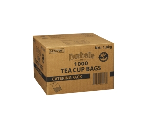BUSHELLS BLUE LABEL TEA BAGS STRING & TAG - BOX OF 1000