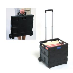 MARBIG STORAGE COLLAPSIBLE TROLLEY 25KG CAPACITY BLACK - EACH