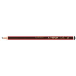STAEDTLER TRADITION 2B GRAPHITE PENCIL - BOX OF 12