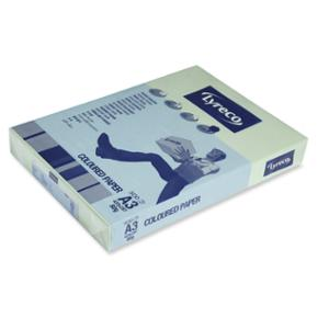 LYRECO PASTEL TINTED PAPER 80GSM A3 GREEN - REAM OF 500 SHEETS
