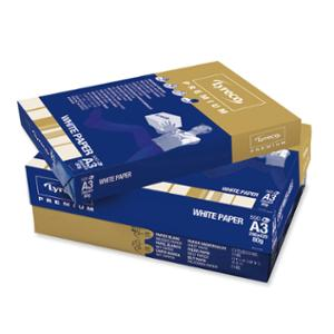 LYRECO A3 PREMIUM PAPER 80GSM WHITE - REAM OF 500 SHEETS