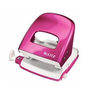 LEITZ WOW 2 HOLE PUNCH 30 SHEET PINK
