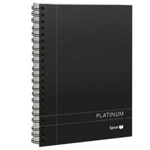 SPIRAX 401 PLATINUM NOTE BOOK A5 200 PAGE BLACK - EACH