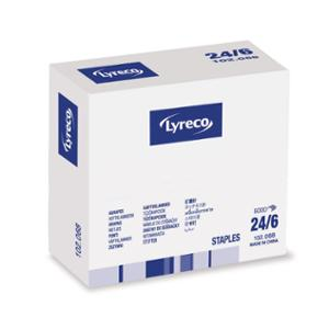 LYRECO STAPLES 24/6MM - PACK OF 5000