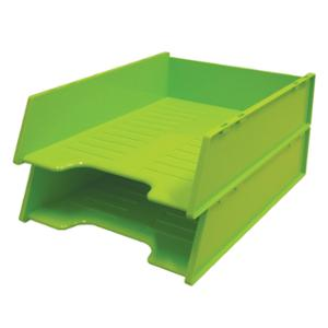 LYRECO COLOURS MULTI FIT LETTER TRAY 263 X 354 X 80MM LIME - EACH