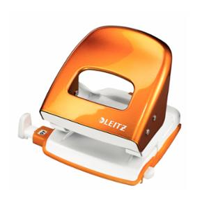 LEITZ WOW 2 HOLE PUNCH 30 SHEET ORANGE