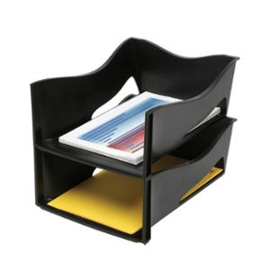 MARBIG ENVIRO 100% RECYCLED JUMBO LETTER TRAY 303 X 330 X 140MM BLACK - EACH