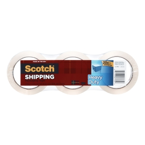 SCOTCH 3850 HEAVY DUTY PACKAGING TAPE 48MM X 50M CLEAR - PACK OF 3 ROLLS