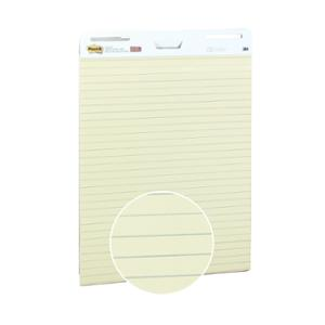 POST-IT SUPER STICKY EASEL LINED PADS YELLOW - PACK OF 2 PADS