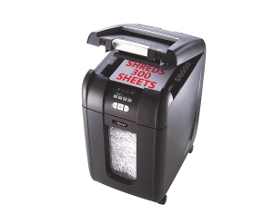 REXEL STACK & SHRED AUTO+ 300 PERSONAL SHREDDER 590X350X490MM