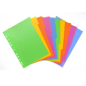 BANTEX DIVIDERS LOLLY SHOP 10 TAB POLYPROPYLENE A4 - EACH