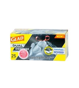 GLAD FORCEFLEX DRAWSTRING GARBAGE BAG 75L - PACK OF 25