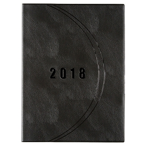 CUMBERLAND LUXE BOOK MONTH TO VIEW A4 PLANNER BLACK - EACH