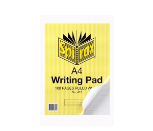 SPIRAX RULED NOTE PAD A4 100 PAGE WHITE - EACH