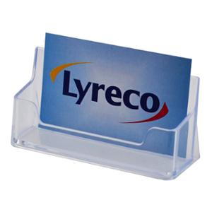 LYRECO 1 TIER COUNTER BUSINESS CARD HOLDER 98 X 32 X 45MM - EACH