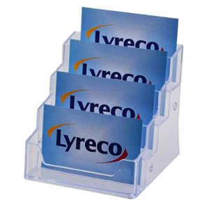 LYRECO 4 TIER COUNTER BUSINESS CARD HOLDER 98 X 92 X 93MM - EACH