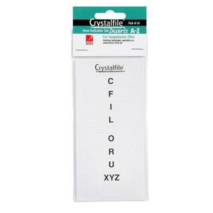 CRYSTALFILE INDICATOR TABS & INSERTS A-Z - PACK OF 60