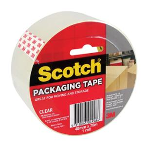 SCOTCH 400 PACKAGING TAPE 48MM X 75M CLEAR - EACH