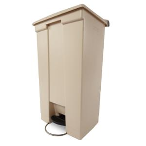RUBBERMAID COMMERCIAL SLIM JIM RESIN STEP ON CONTAINER 90L BEIGE - EACH