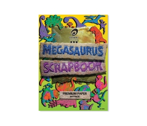 OLYMPIC MEGASAURS SCRAP BOOK 335 X 240MM 64 PAGE - EACH