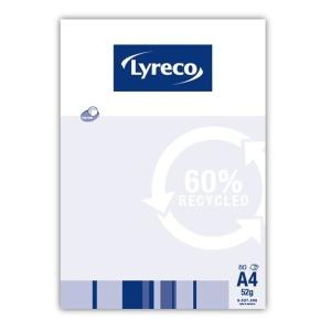 LYRECO 60% RECYCLED RULED NOTE PAD A4 80 PAGE - PACK OF 10