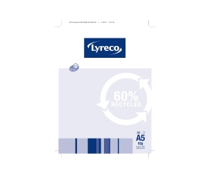 LYRECO 60% RECYCLED RULED NOTE PAD A5 80 PAGE - PACK OF 10
