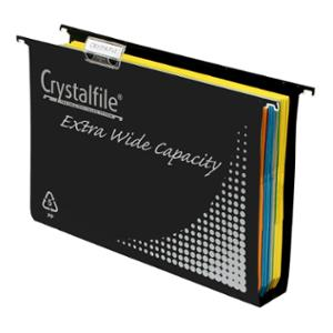 CRYSTALFILE EXTRA WIDE CAP 50MM BLK - BOX OF 10