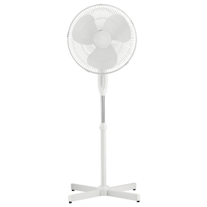 PEDESTAL FAN 40CM WHITE - EACH