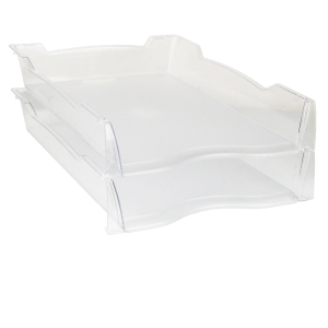 LYRECO TINTS DOCUMENT TRAY A4 248 X 280 X 290MM CLEAR - EACH