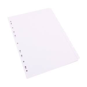 LYRECO 10 TAB DIVIDERS BOARD A4 WHITE - EACH