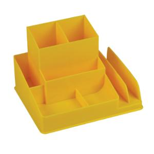 LYRECO COLOURS DESK ORGANISER 163 X 133 X 108MM BANANA - EACH