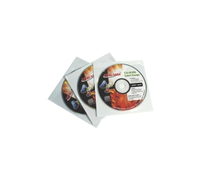 LONG MAX 1-CD/DVD SELF ADHESIVE - WALLET - PACK OF 5