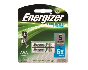 ENERGIZER RECHARGEABLE BATTERY AAA/LR3 - PACK OF 2