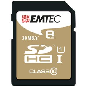 EMTEC GOLD SDHC MEMNORY CARD 8GB - EACH