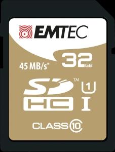 EMTEC GOLD SDHC MEMORY CARD 150X 32GB - EACH